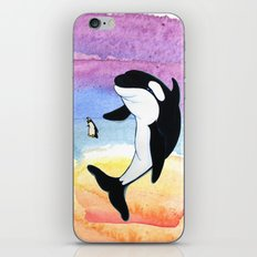 Best Friends Forever Whale and Penguin iPhone & iPod Skin