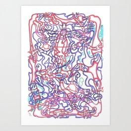 Capillary Reaction  Art Print