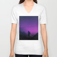 not all who wander are lost V-neck T-shirts featuring Not all those who wander are lost  by Stoian Hitrov - Sto