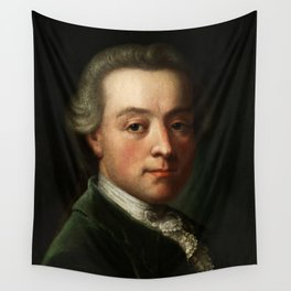 Wolfgang Amadeus Mozart (1756 -1791) portrait Wall Tapestry