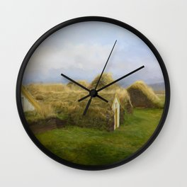 Iceland Simpler times 2 Wall Clock