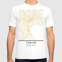 TOKYO JAPAN CITY STREET MAP ART T-shirt