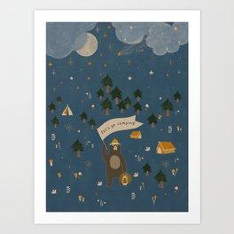 Let's go camping! Art Print