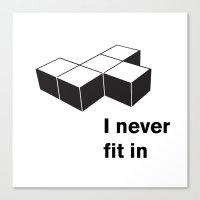 tetris Canvas Prints featuring Tetris by Jordy Frissen
