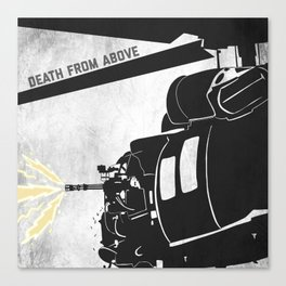 DeathFrom Above - Blackhawk Canvas Print