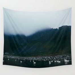 swan lake in iceland Wall Tapestry