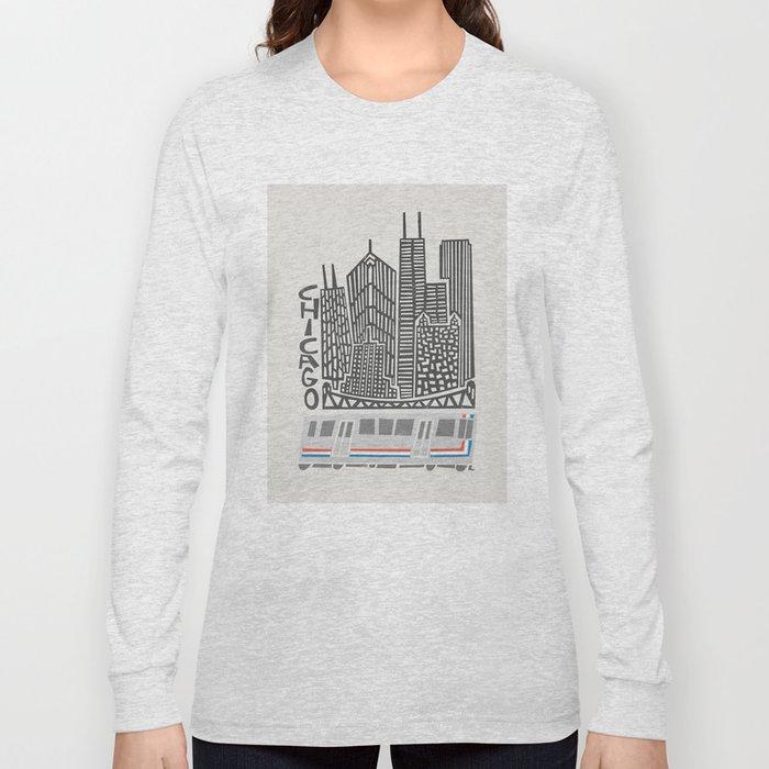 Chicago Cityscape Long Sleeve T-shirt