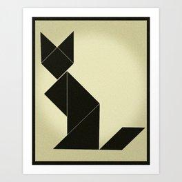 Tangram Cat Art Print