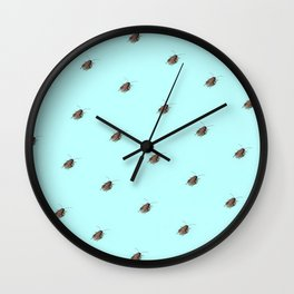 Coolroaches (Blue) Wall Clock