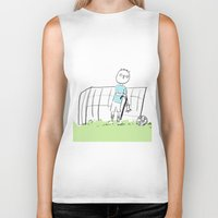 football Biker Tanks featuring football by sharon