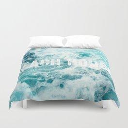 Beach House Ocean Sea Waves Duvet Cover