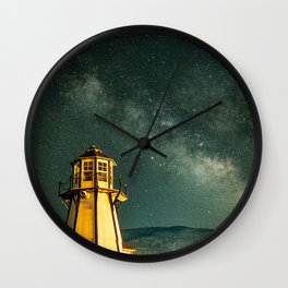 Mountain Light House Wall Clock