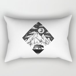LONELY BEAR Rectangular Pillow