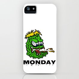 Monday -the day of horror - black iPhone Case