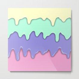 Pastel Ice Cream Melt Metal Print
