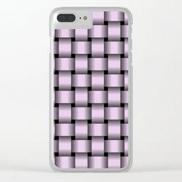 Pastel Violet Weave Clear iPhone Case