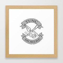 Tunc Morere Insignia Framed Art Print