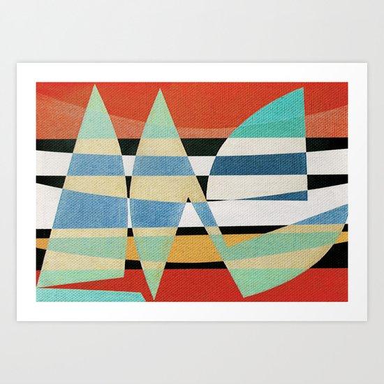 Sailing on a Raging Sea Art Print