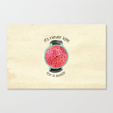 Snack Canvas Print