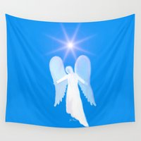 angel Wall Tapestries featuring Angel by JT Digital Art