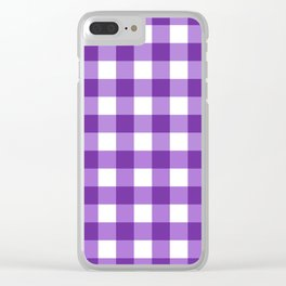 Purple Buffalo Check - more colors Clear iPhone Case