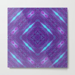 Pink, Purple, and Blue Square Metal Print