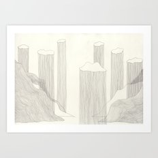 I design fjords. Art Print