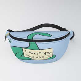 I Hate You, Your Dog is Okay (Plesiosaur) Fanny Pack