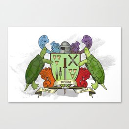 Sewer Family Crest Canvas Print