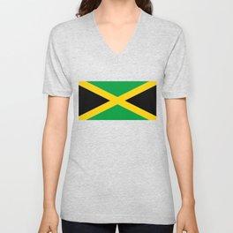 Jamaican flag, flag of Jamaica Unisex V-Neck