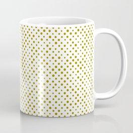 Trombone, brush strokes, minimal, halftone, polka dots, spots, mid century, abstract, pattern Coffee Mug
