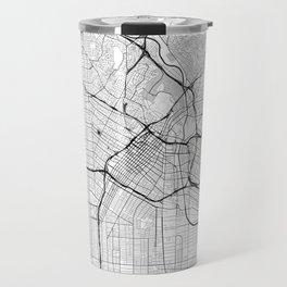 Los Angeles Map Gray Travel Mug