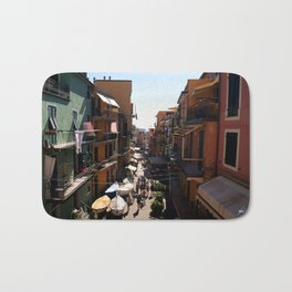 Shiny mess - Manarola, IT Bath Mat