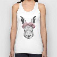 hare Tank Tops featuring Hare  by Victoria Novak