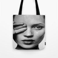 moss Tote Bags featuring Moss by Grace Teaney Art
