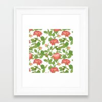 roses Framed Art Prints featuring Roses by Julia Badeeva