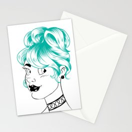 Sheena is... turquoise Stationery Cards