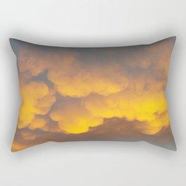 GOLD BOILING IN THE SUNRISE Rectangular Pillow