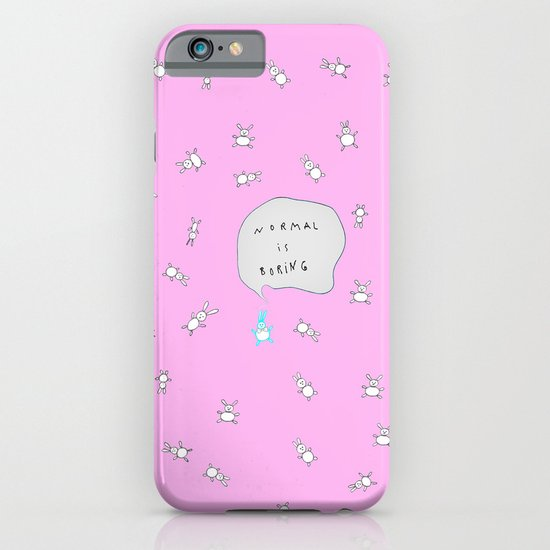 NORMAL IS BORING PINK iPhone & iPod Case