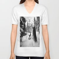 pagan V-neck T-shirts featuring Pagan forest by Kristina Haritonova