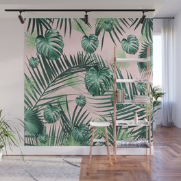 Tropical Jungle Leaves Garden #2 #tropical #decor #art #society6 Wall Mural