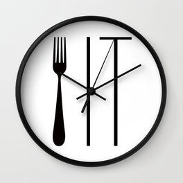 Fork It Wall Clock