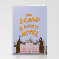 budapest hotel Stationery Cards featuring THE GRAND BUDAPEST HOTEL by Kaitlin Smith