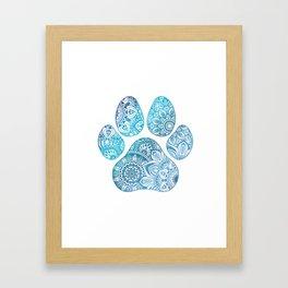Paw print mandala Framed Art Print