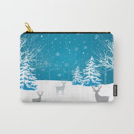 Blue Winter nights Carry-All Pouch
