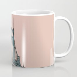 St. Johns Bridge Illustration Pink PDX Coffee Mug