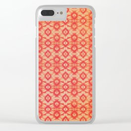 orange tie dye small repeat Clear iPhone Case