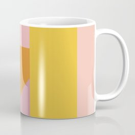Shapes in Vintage Modern Pink, Orange, Yellow, and Lavender Coffee Mug