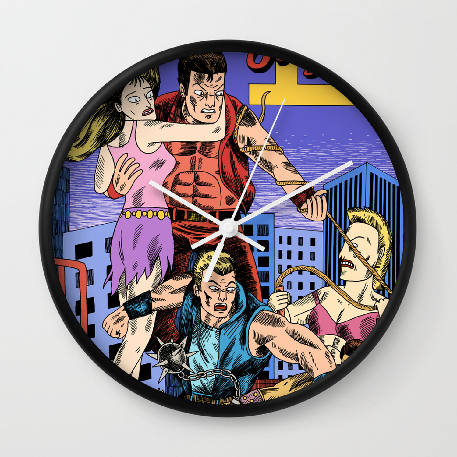 Double Dragon Ii Wall Clock By Jackteagle Society6