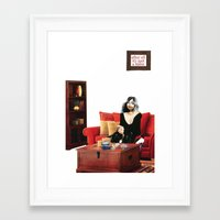 cigarettes Framed Art Prints featuring Habits / Cigarettes by semlinear